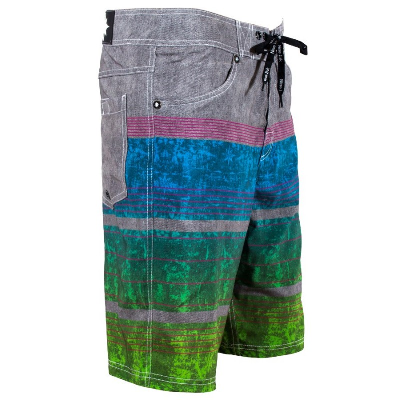 Boardshort homme Nine Ink Stripes