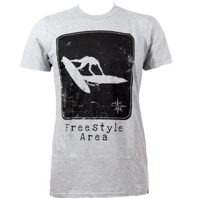 Tshirt gris homme Nine Ink Freestyle Area