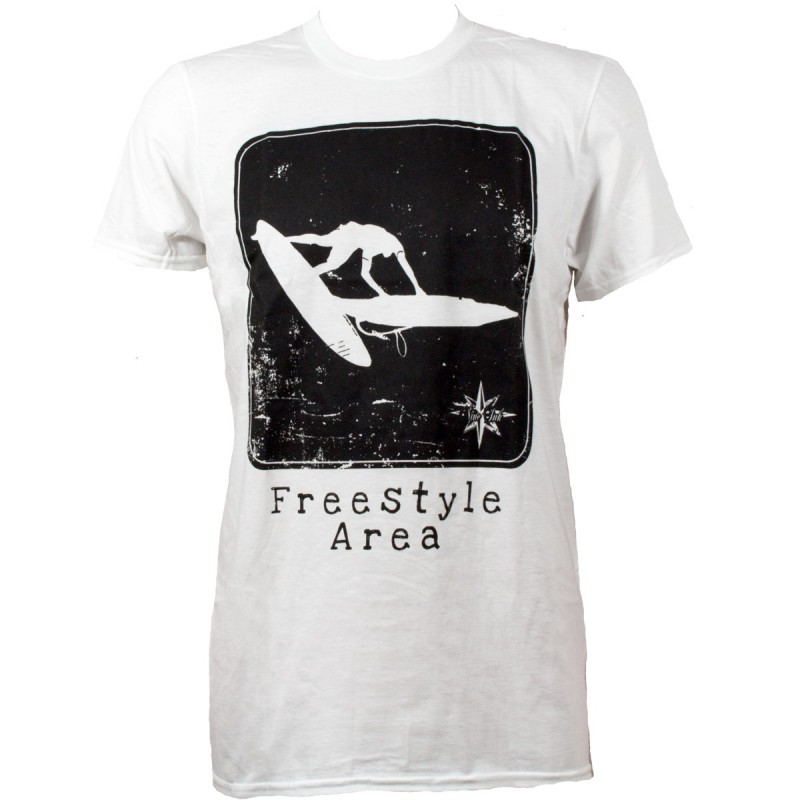 Tshirt blanc homme Nine Ink Freestyle Area