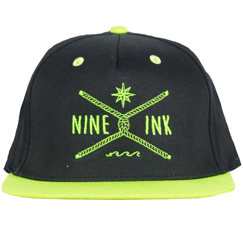 casquette snapy neon green