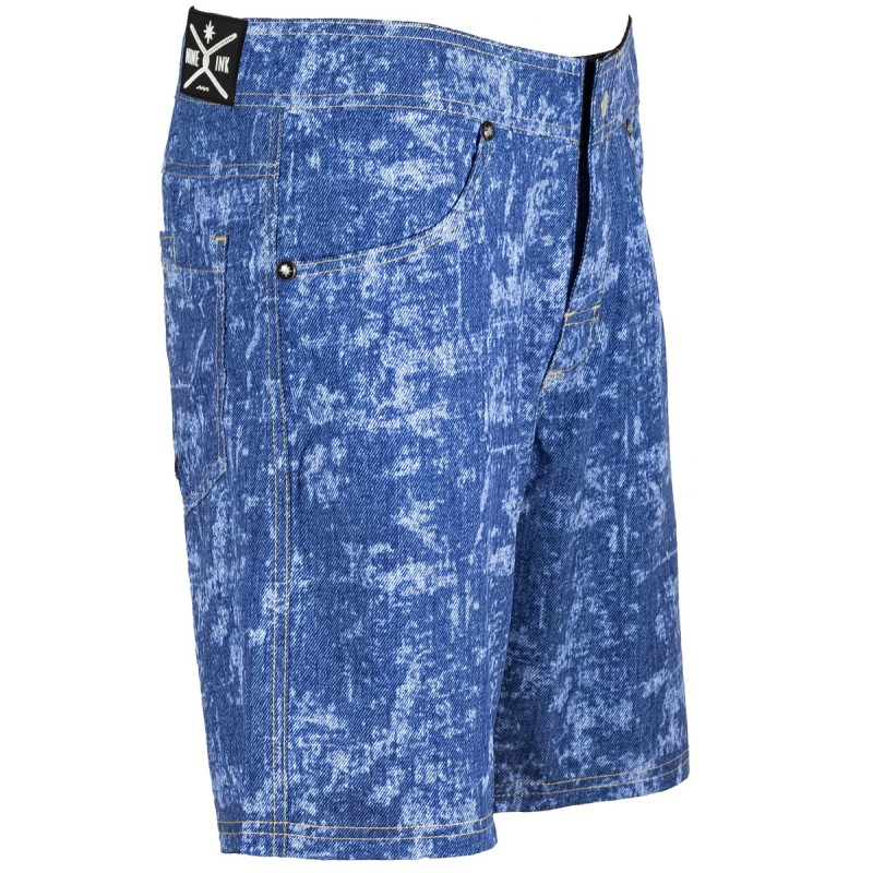 men's boardshort nine ink d-blue